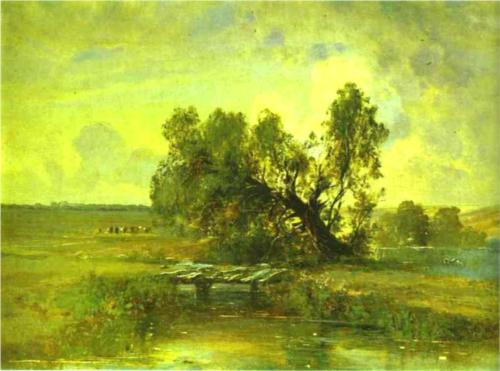 Reproduction of Alexey Savrasov's Painting, After A Thunderstorm