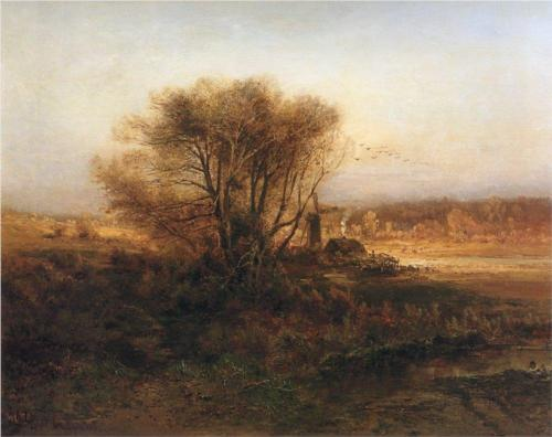 Reproduction of Alexey Savrasov's Painting Art, Autumn, 1871