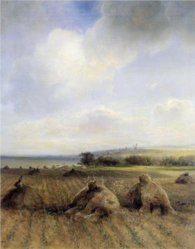 Reproduction of Savrasov's art, By Late Summer On The Volga,1873