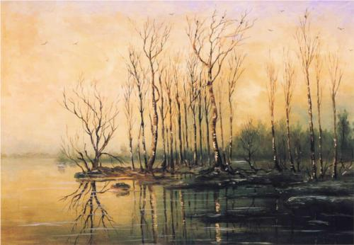 Reproduction of Savrasov's Dimensions And Material Of Painting
