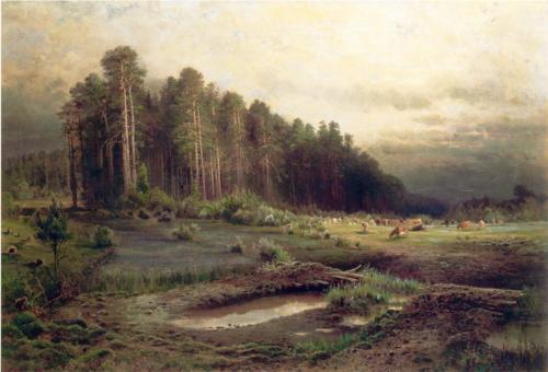 Reproduction of Alexey Savrasov's Art, Elk Island In Sokolniki