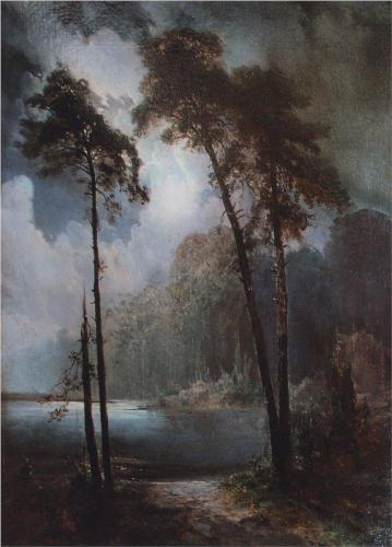 Reproduction of Alexey Savrasov's Painting Artwork, Lell, 1883