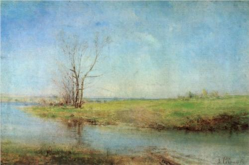 Reproduction of Alexey Savrasov's Painting Artwork, Spring, 1875