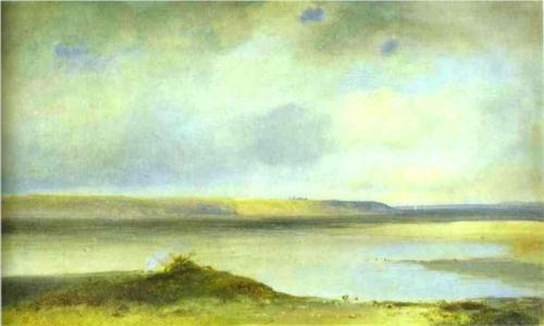 Reproduction of Alexey Savrasov's Art, The Volga River Vistas