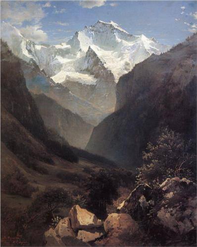 Reproduction of Savrasov's Type In The Swiss Alps Mount