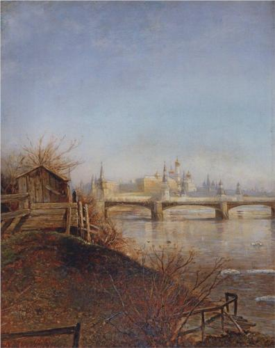 Reproduction of Savrasov's View Of The Moscow Kremlin, 1873