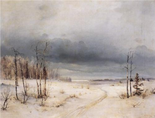 Reproduction of Alexey Savrasov's Painting Artwork, Winter, 1870