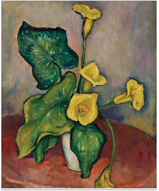 Reproductions of Anne Goldthwaite - Yellow Calla Lilies