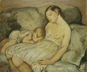 Reproduction art of Anne Goldthwaite - The Green Sofa 1930