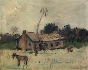Reproduction of Anne Goldthwaite's art -Cabin in Alabama