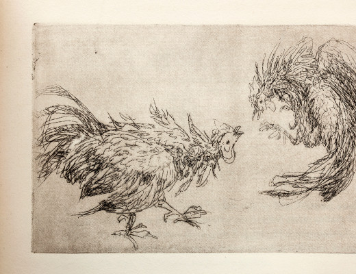 Reproduction of Anne Goldthwaite's Painting Art - Cock fight