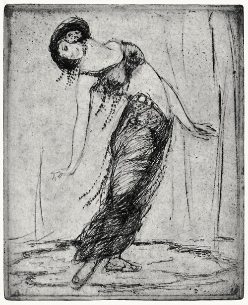 Reproductions of Anne Goldthwaite - Egyptian dancer