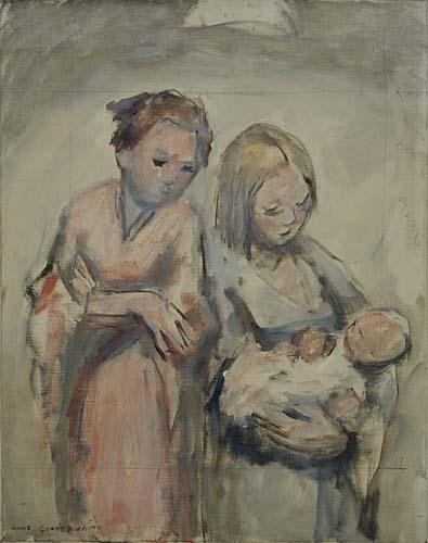 Reproductions of Anne Goldthwaite - Two Women And Baby