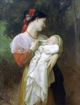William Bouguereau Oil Paintings Admiration Maternelle