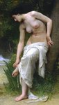 Depictions of nude women by William Bouguereau Apres Le Bain