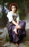 William Bouguereau Oil Paintings Au Bord Du Ruisseau
