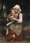 William Bouguereau Oil Paintings Breton Brother and Sister 1871