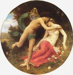 Depictions of nude women by William Bouguereau Cupid And Psyche
