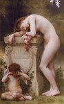 Depictions of nude women by William Bouguereau Douleur Damour