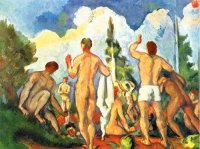 Paul Cezanne paintings artwork, Reproduction of Bathers
