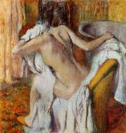Reproduction of After the Bath Woman Drying Herself 1890-1895