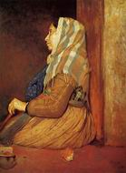 Reproduction of A Roman Beggar Woman 1857