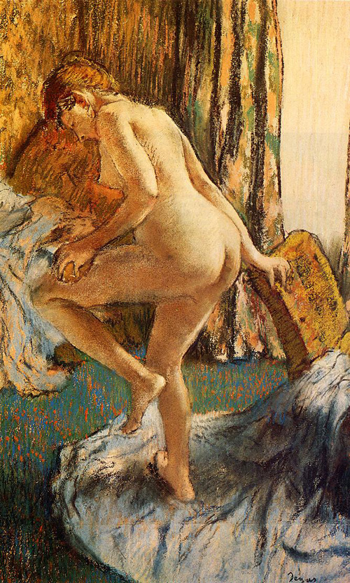 Reproductions of Edgar Degas's art, After the Bath 1883