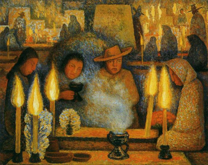 Reproductions of Diego Rivera's art Day of the Dead