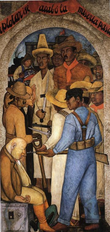 Reproductions of Diego Rivera's art Death of Capitalist 1928