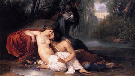Reproductions of Francesco Hayez's paintings Rinaldo and Armida