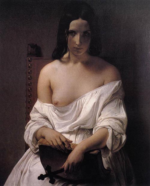 Reproductions of Francesco Hayez's paintings Meditation