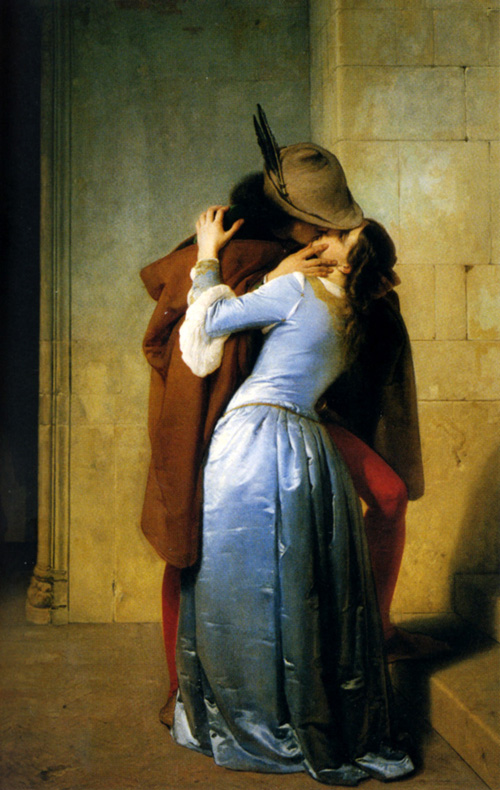 Reproductions of Francesco Hayez's paintings The Kiss 1859