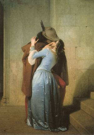 Reproductions of Francesco Hayez's paintings The Kiss