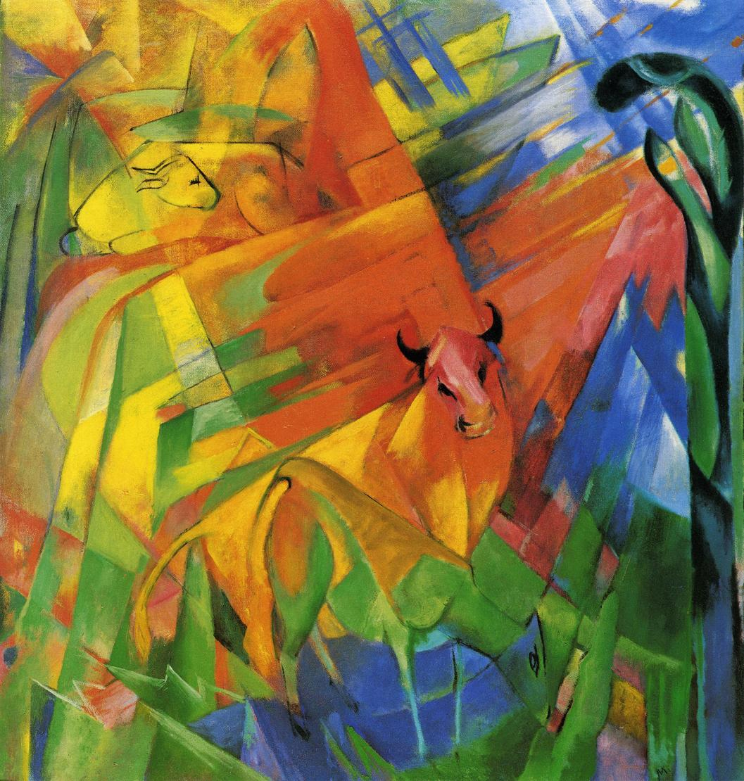 Reproductions of Franz Marc's art Evening Out
