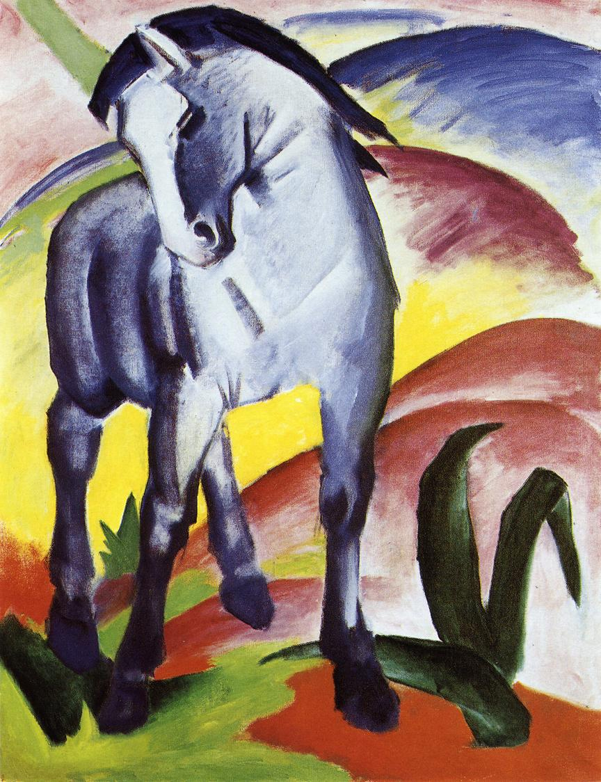Reproductions of Franz Marc's art Blue Horse I 1911