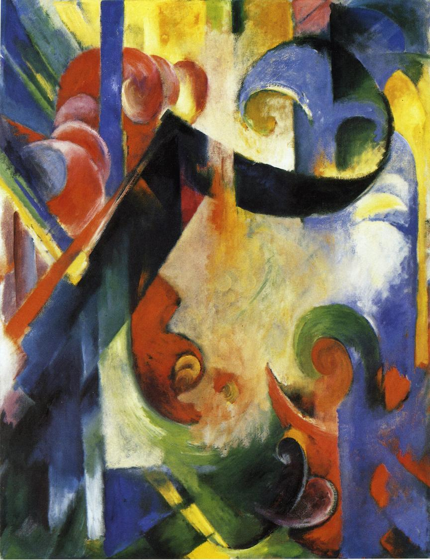 Reproductions of Franz Marc's art Broken Forms 1914