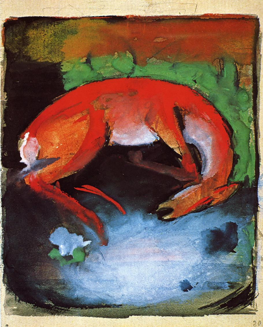 Reproductions of Franz Marc's art Dead Deer 1913