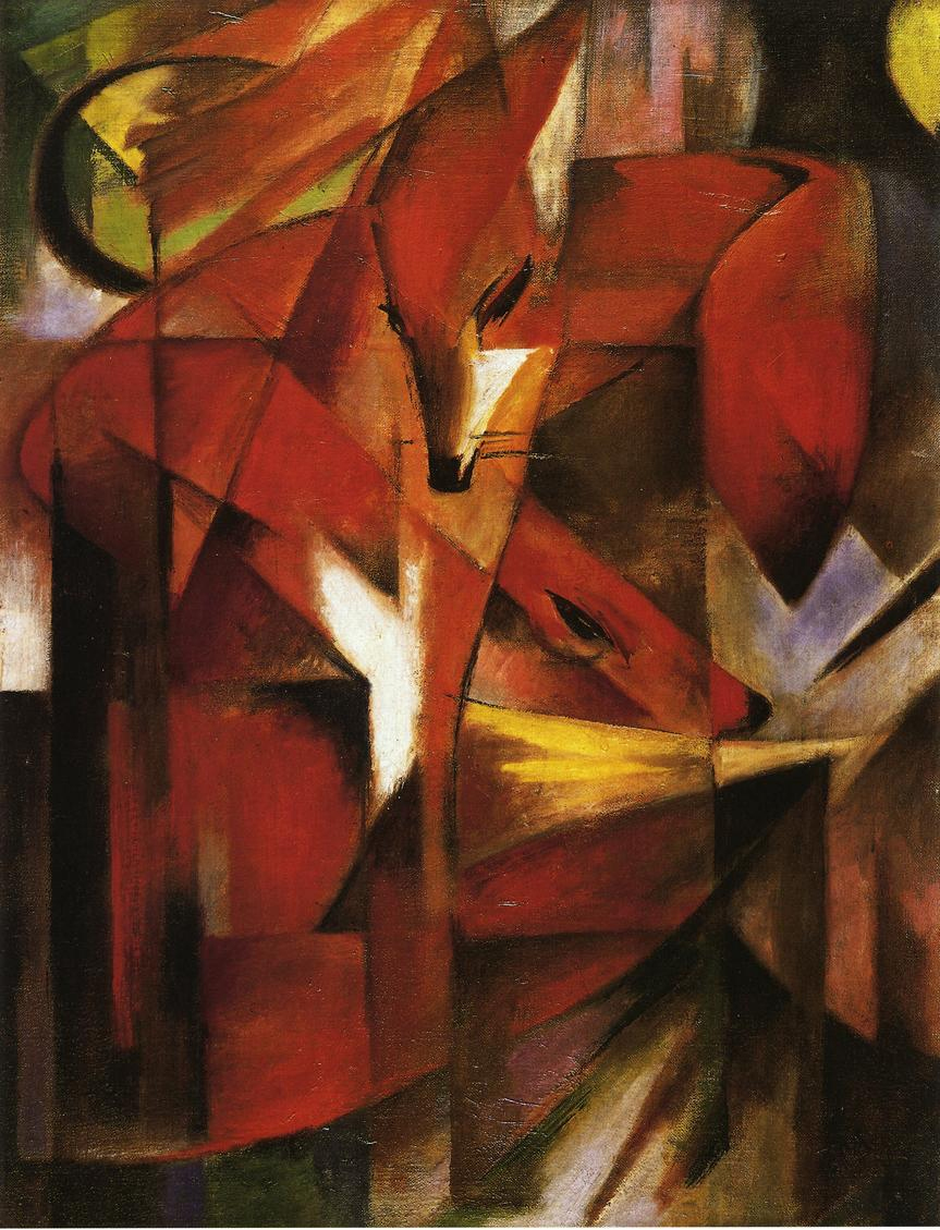 Reproductions of Franz Marc's art Foxes 1913