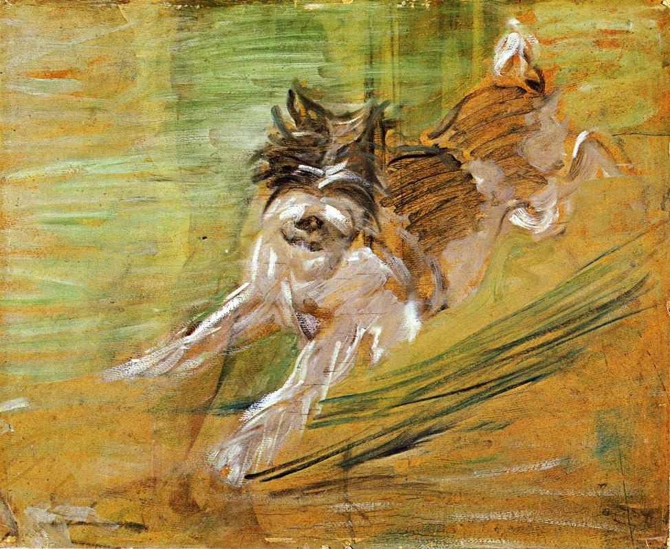 Reproductions of Franz Marci's art Jumping Dog Schlick 1908