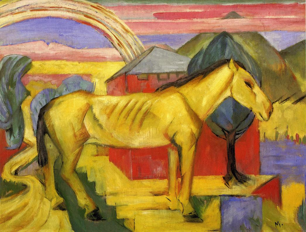 Reproductions of Franz Marci's art Long Yellow Horse 1913