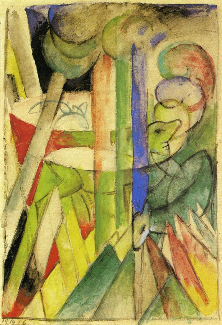 Reproductions of Franz Marc's art Mountain Goats 1914