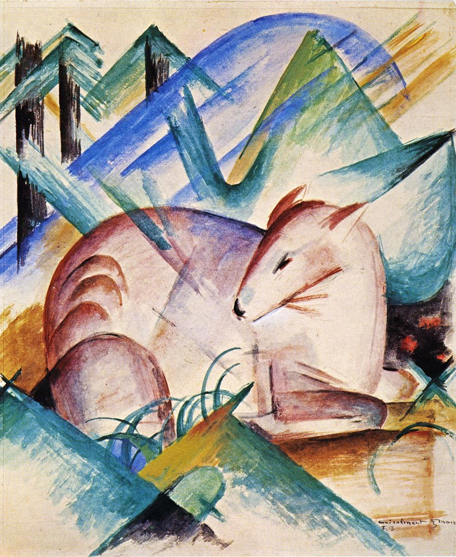 Reproductions of Franz Marc's art Red Deer 1913