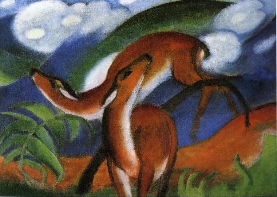 Reproductions of Franz Marci's art Red Deer II 1912