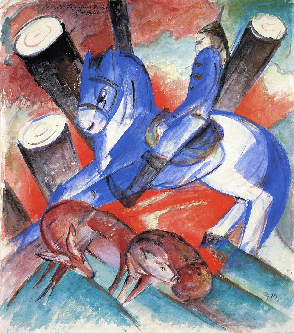 Reproductions of Franz Marc's art Saint Julian l'Hospitalier 19