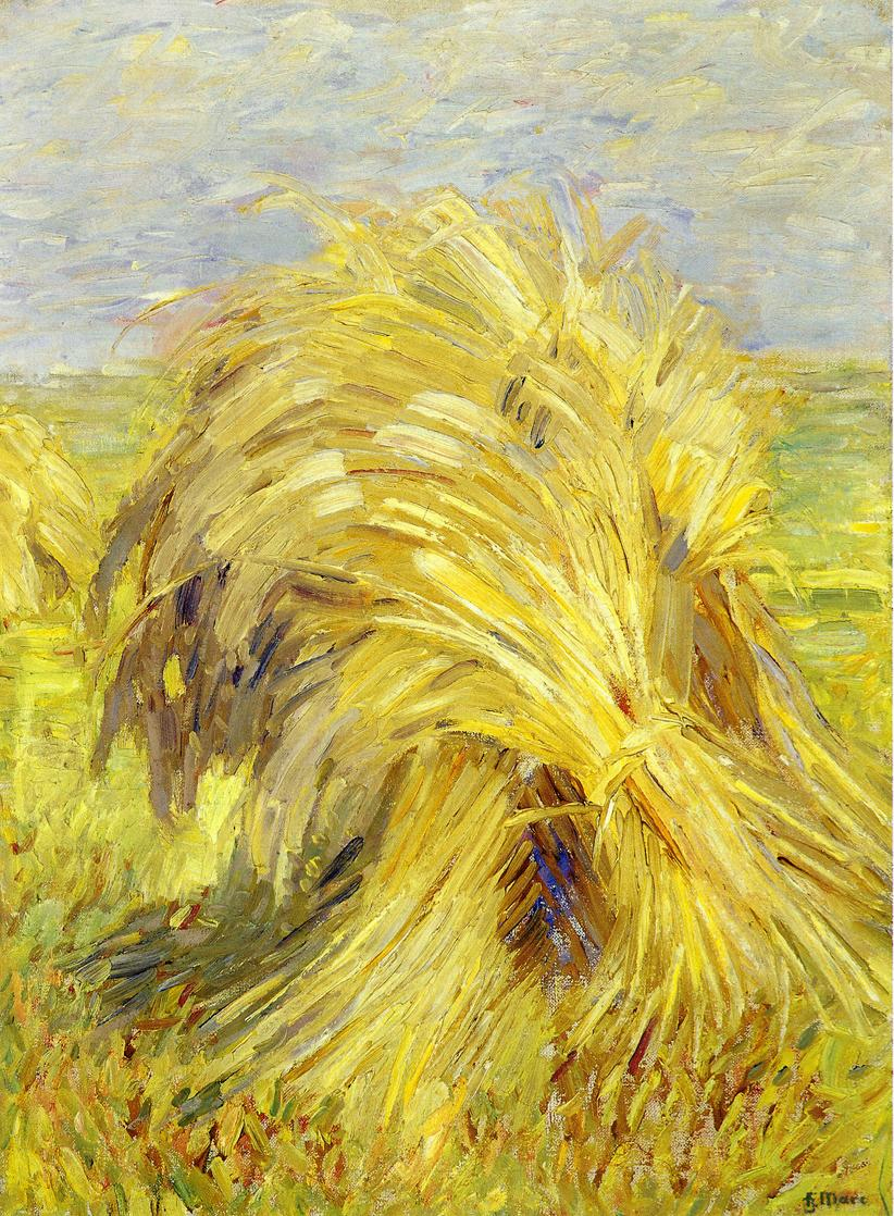 Reproductions of Franz Marc's art Sheaf of Grain 1907