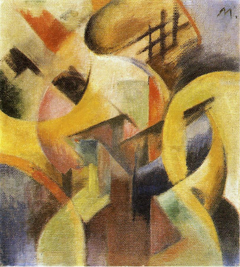 Reproductions of Franz Marc's art Small Composition I 1913
