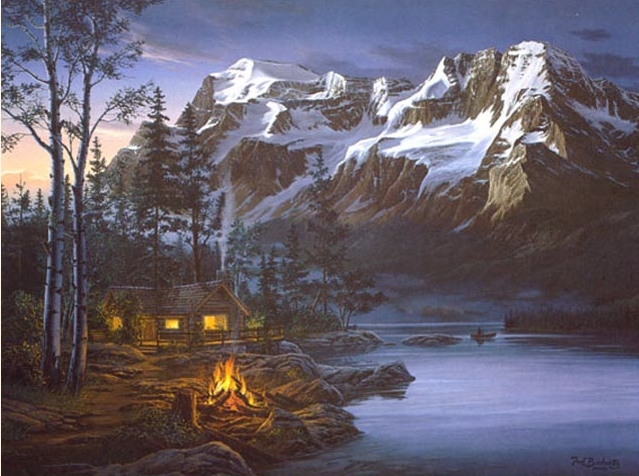 Reproductions of Fred Buchwitz's evening mountain splendour