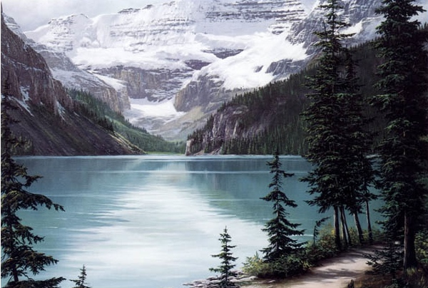 Reproductions of Fred Buchwitz's Lake Louise