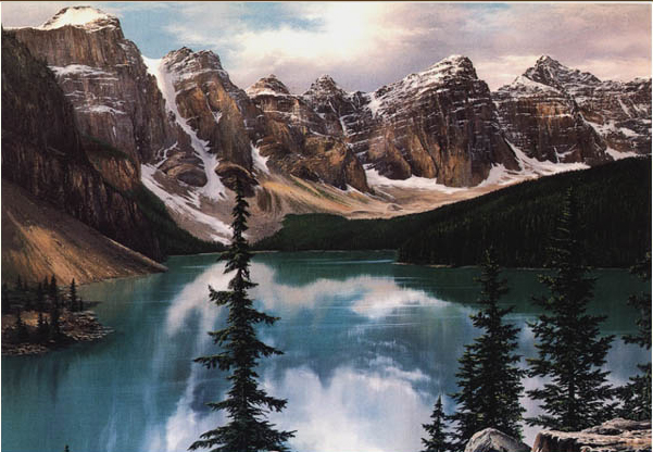 Reproductions of Fred Buchwitz's Moraine Lake