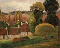Paul Gauguin paintings artwork A Farm in Brittany probably 1894